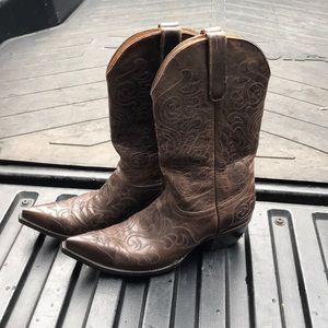 Old gringo brown cowboy boots size 10